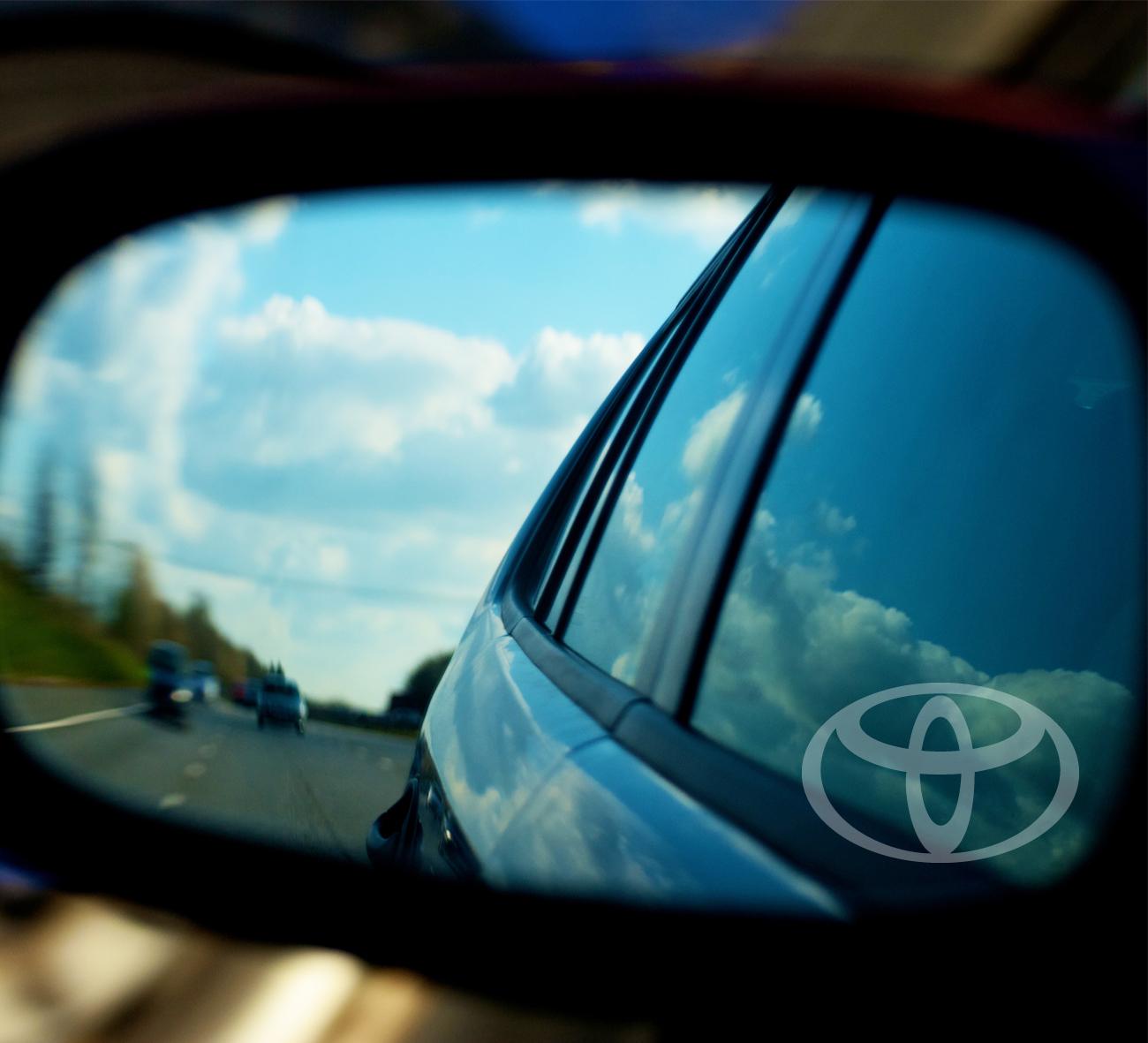 TOYOTA WING MIRROR ETCHED GLASS CAR VINYL DECALS-STICKERS x3-7 YR VINYL-BODY MOD