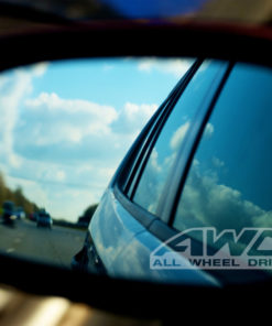Frosted Look Mirror Glass Decal Stickers ~ Set Of 2 Audi word Etched