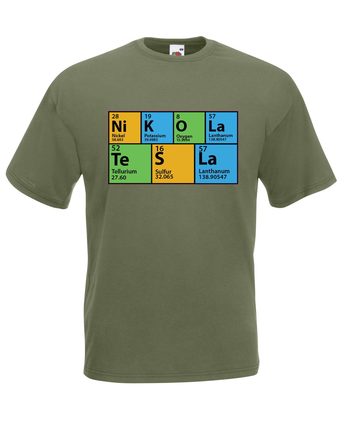 the big bang theory inspired periodic table nikola tesla t. Black Bedroom Furniture Sets. Home Design Ideas