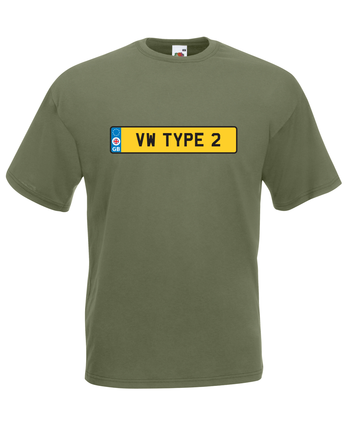 Vw type 2 number plate car graphic design quality t for Graphic design t shirts uk