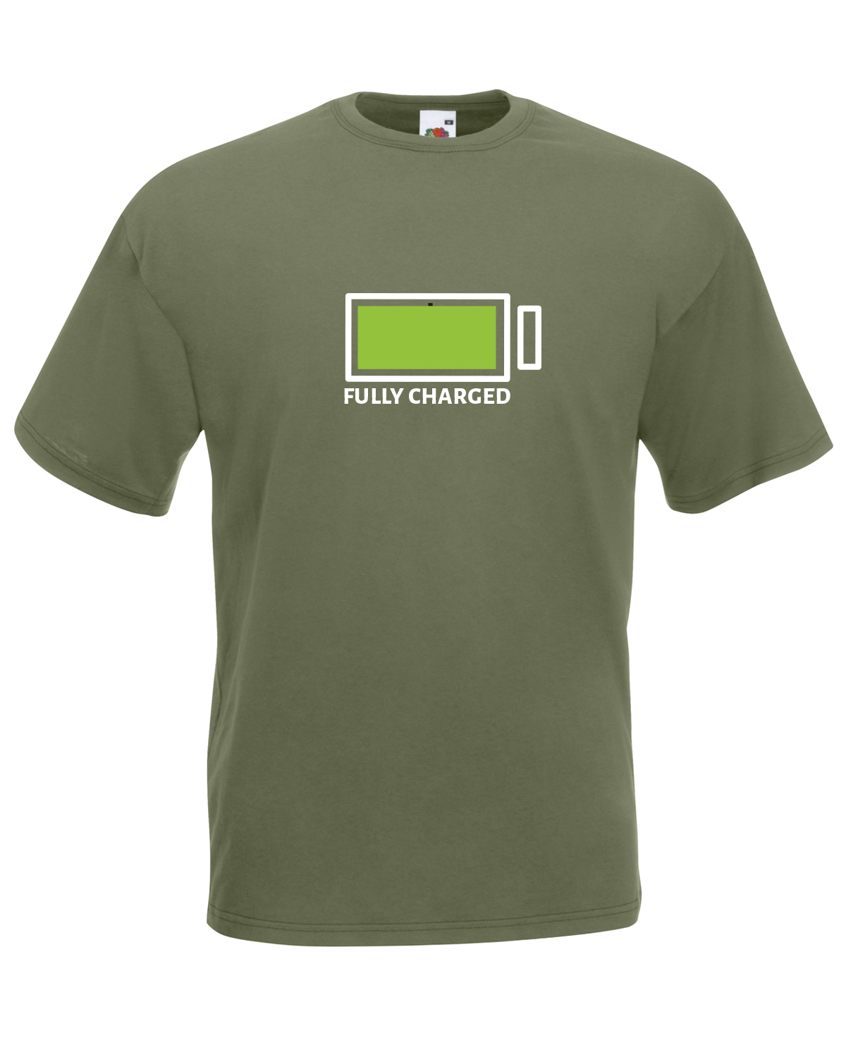 Fully charged battery graphic design quality t shirt tee for Graphic design t shirts uk