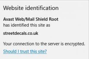 Microsoft Edge Security Information Window