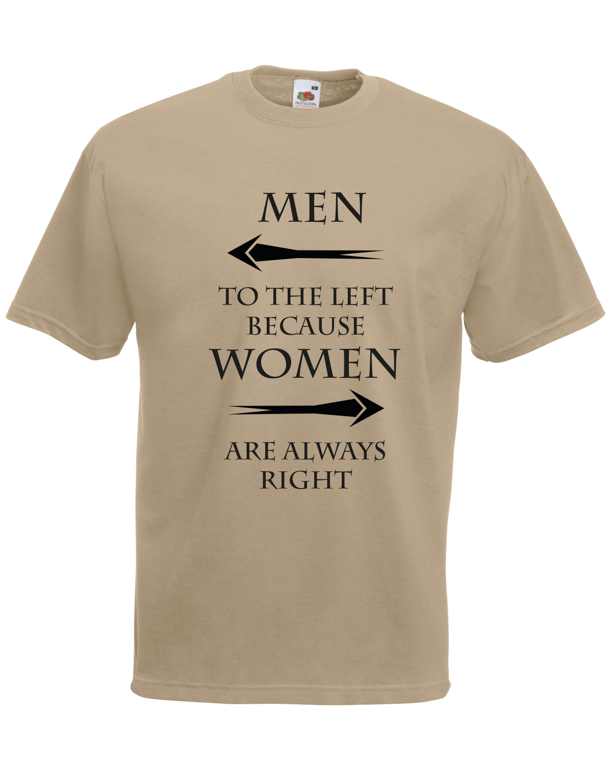 30759fc02 Men To The Left Women Right Graphic Design Quality t-shirt tee mens unisex