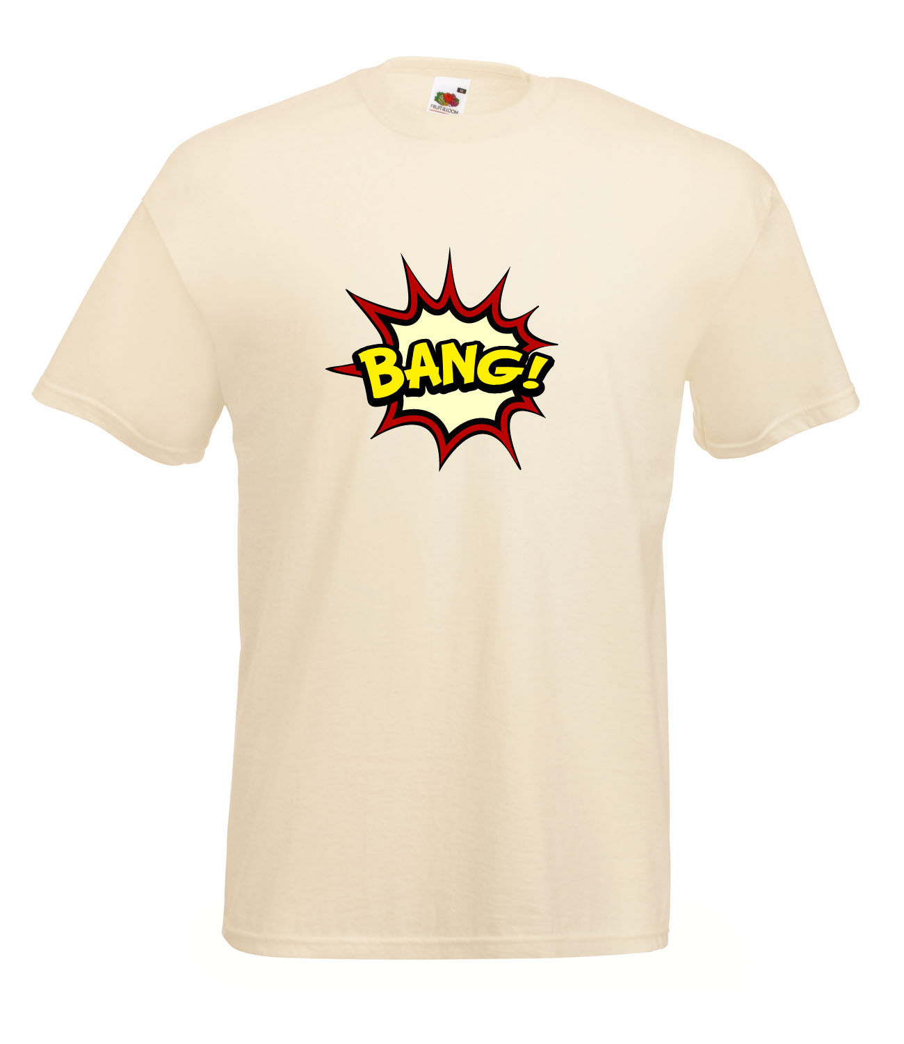 Comic book sound bubble bang graphic high quality retro for Good quality cotton t shirts