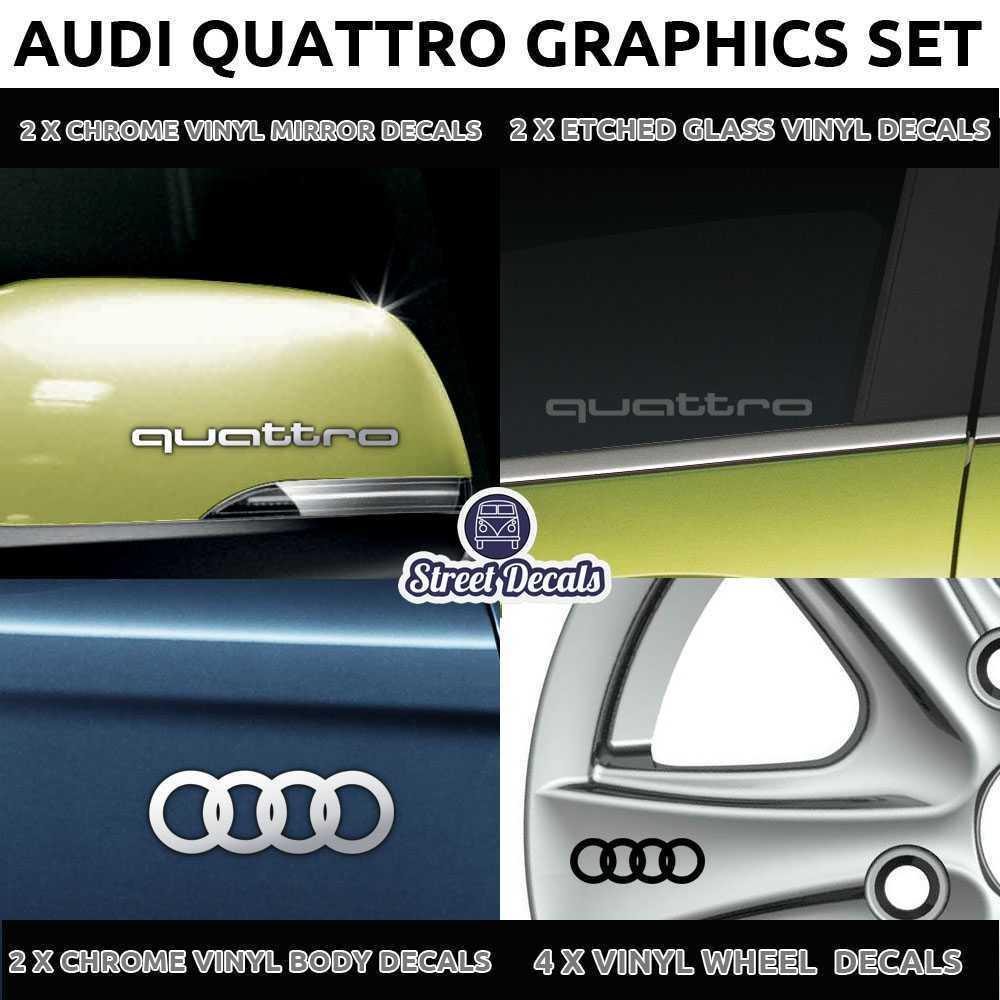 Audi Quattro Vinyl Stickers Decals Graphics Set Car Body Mod
