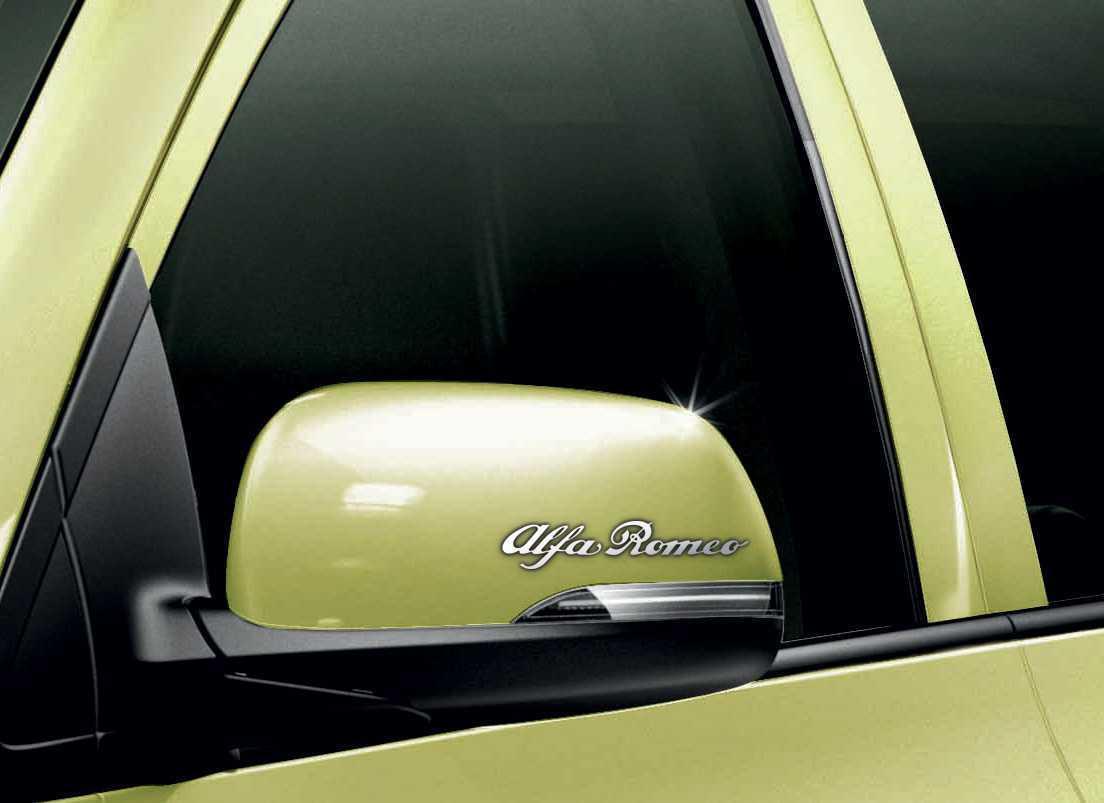 Alfa Romeo Car Chrome Vinyl Wing Mirror Sticker Decals Car Mod