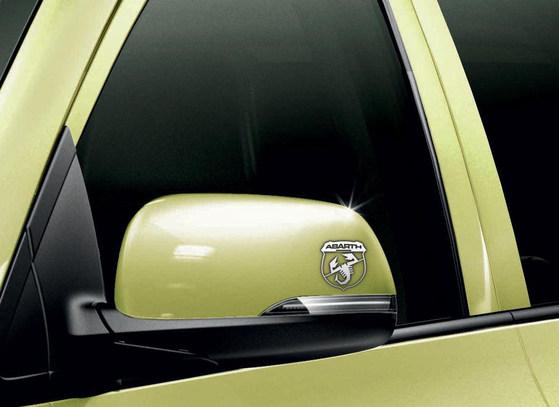Fiat Abarth Car Chrome Vinyl Wing Mirror Sticker Decals