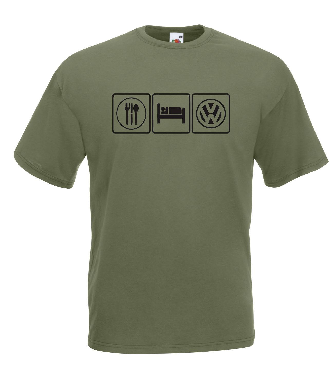 Vw Volkswagen Camper Eat Sleep Vw Graphic High Quality