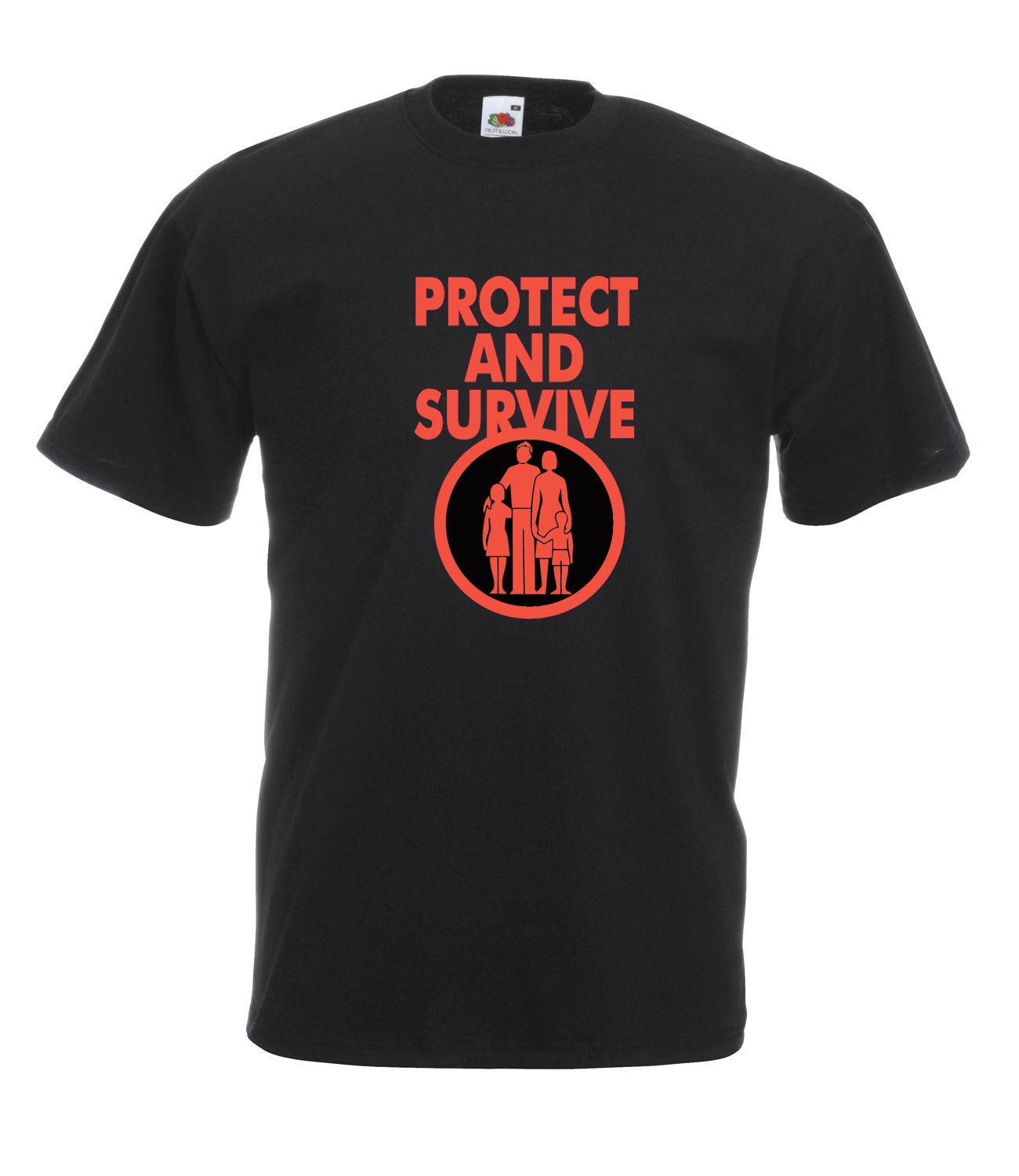 Classic retro protect and survive graphic high quality 100 for Good quality cotton t shirts