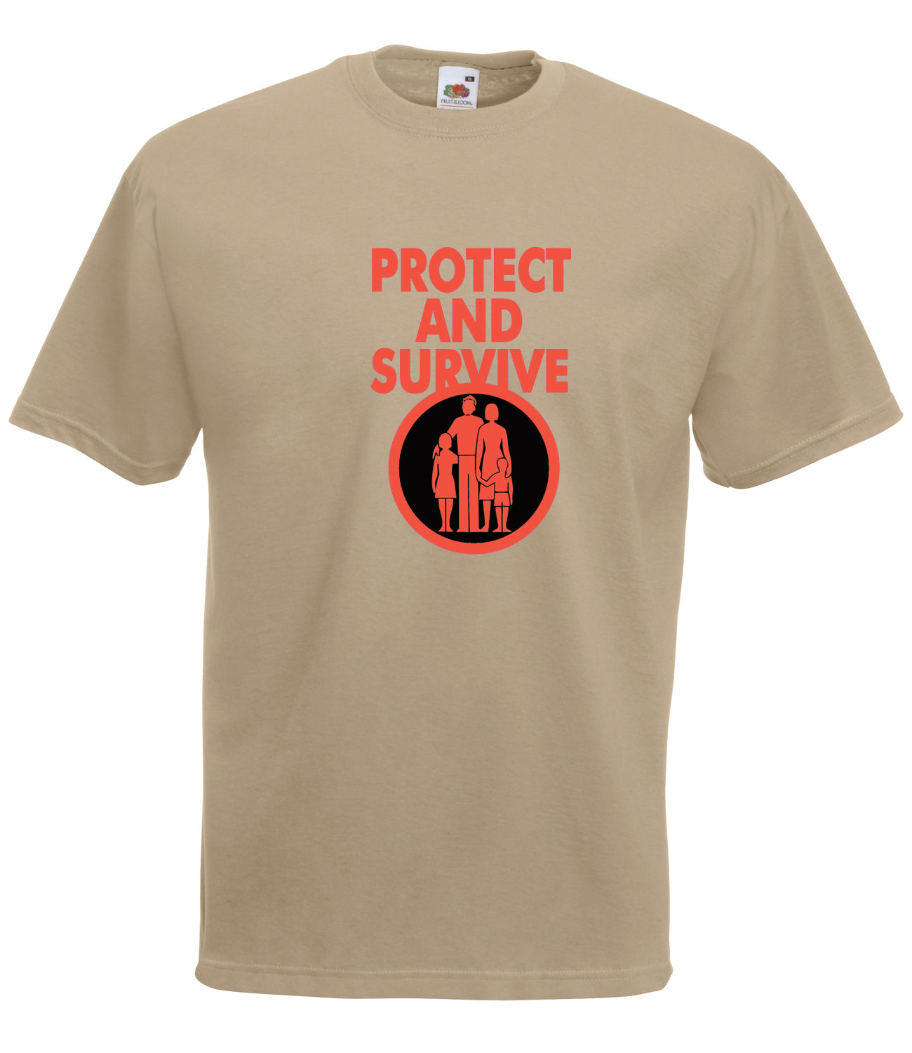 Classic Retro Protect And Survive Graphic High Quality 100