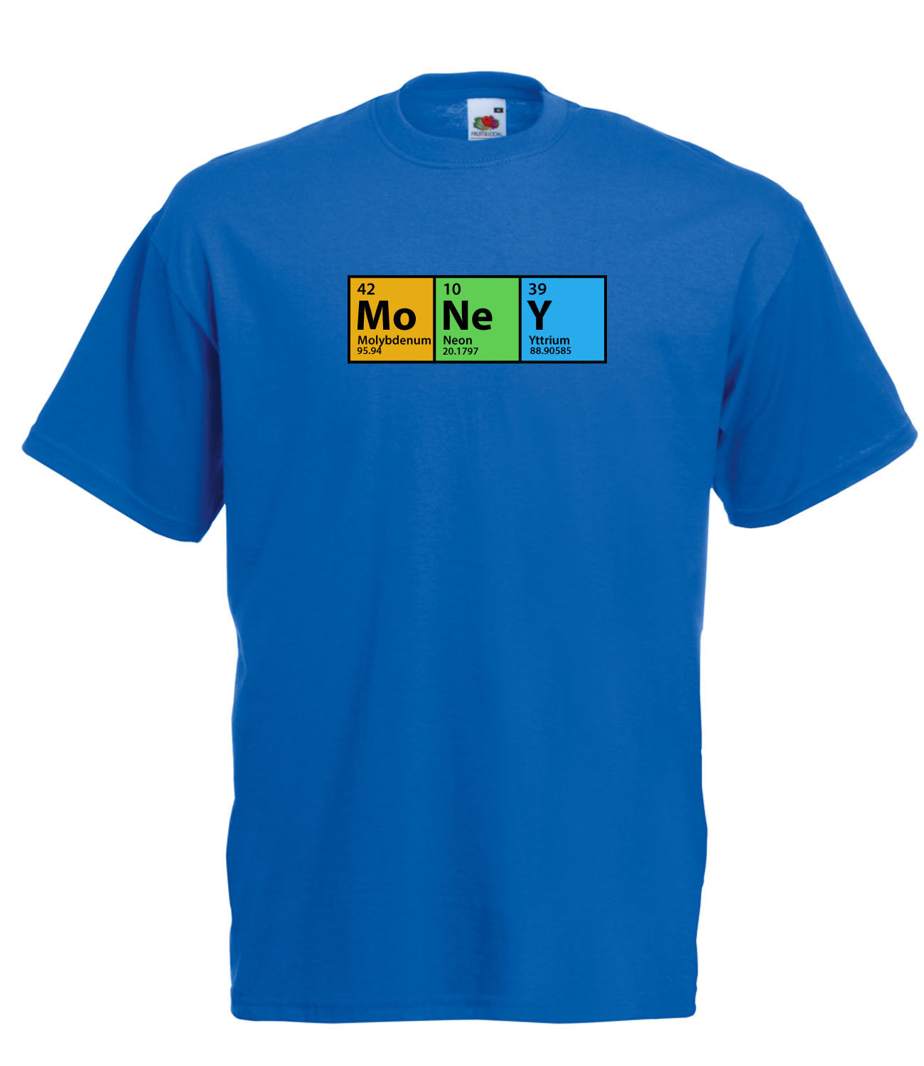 The big bang theory inspired money periodic table high for Blue t shirt template