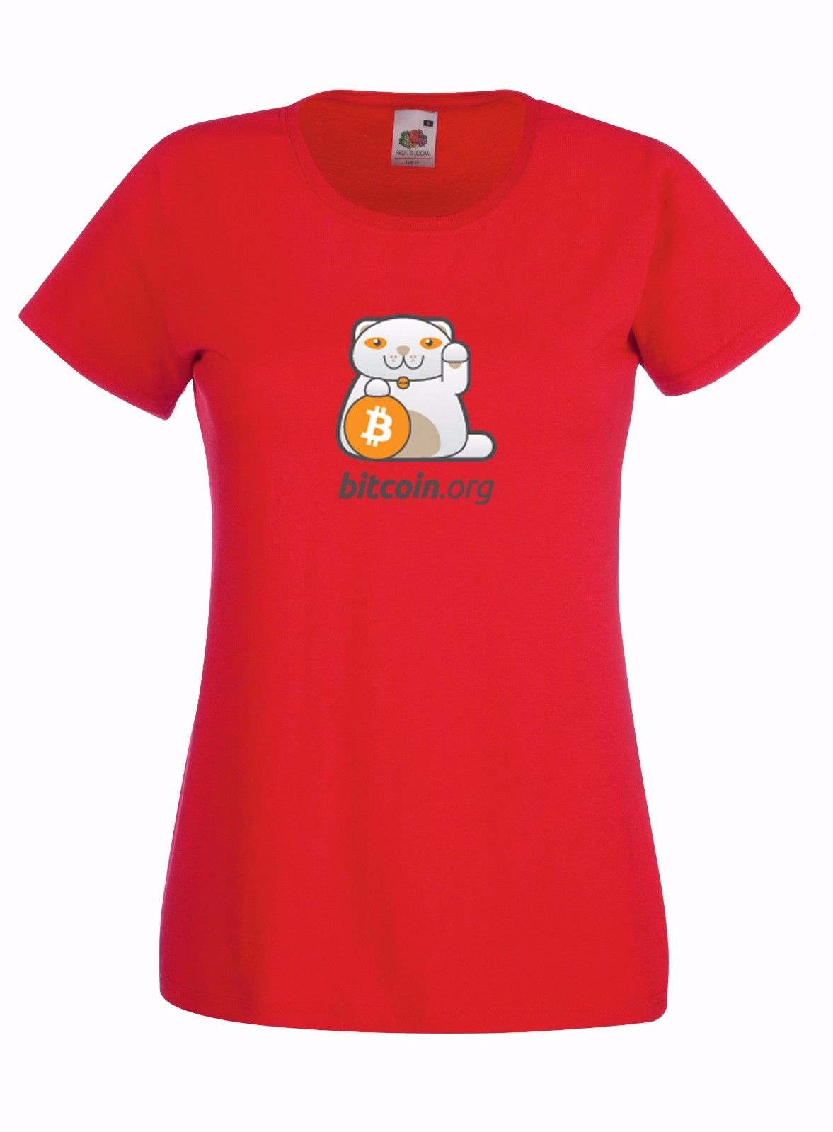 BITCOIN INSPIRED GRAPHIC LADIES SKINNY HIGH QUALITY 100/% COTTON T-SHIRT