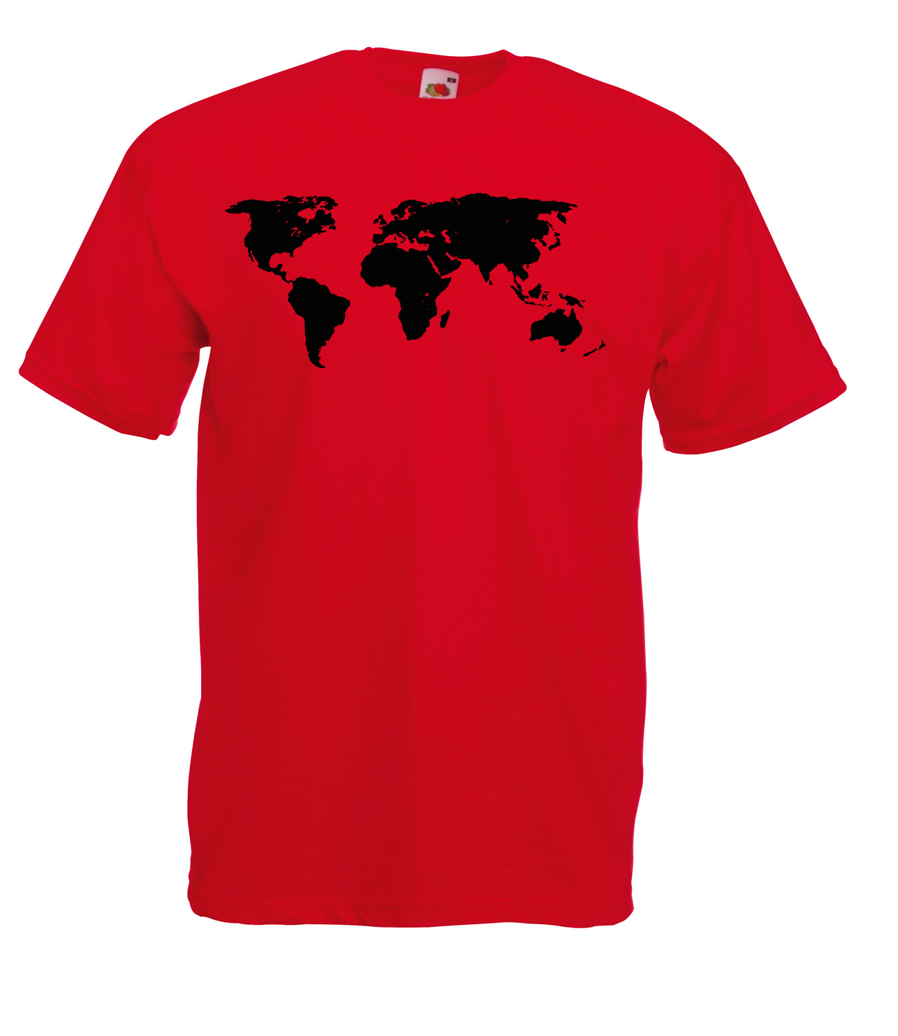 Map of the world detailed design graphic high quality 100 for Good quality cotton t shirts