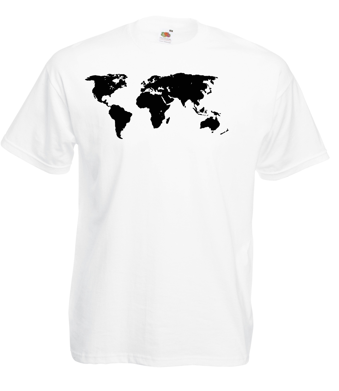 Map of the world detailed design graphic high quality 100 cotton t map of the world detailed design graphic high gumiabroncs Choice Image