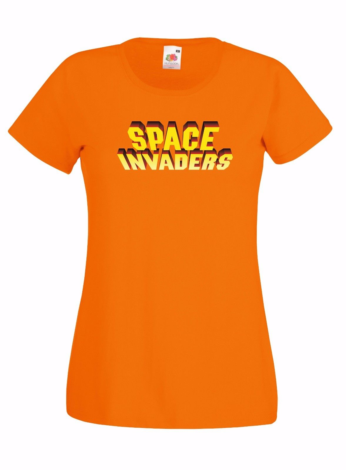 SPACE-INVADERS-INSPIRED-LOGO-GRAPHIC-SKINNY-HIGH-QUALITY-100-COTTON-T-SHIRT