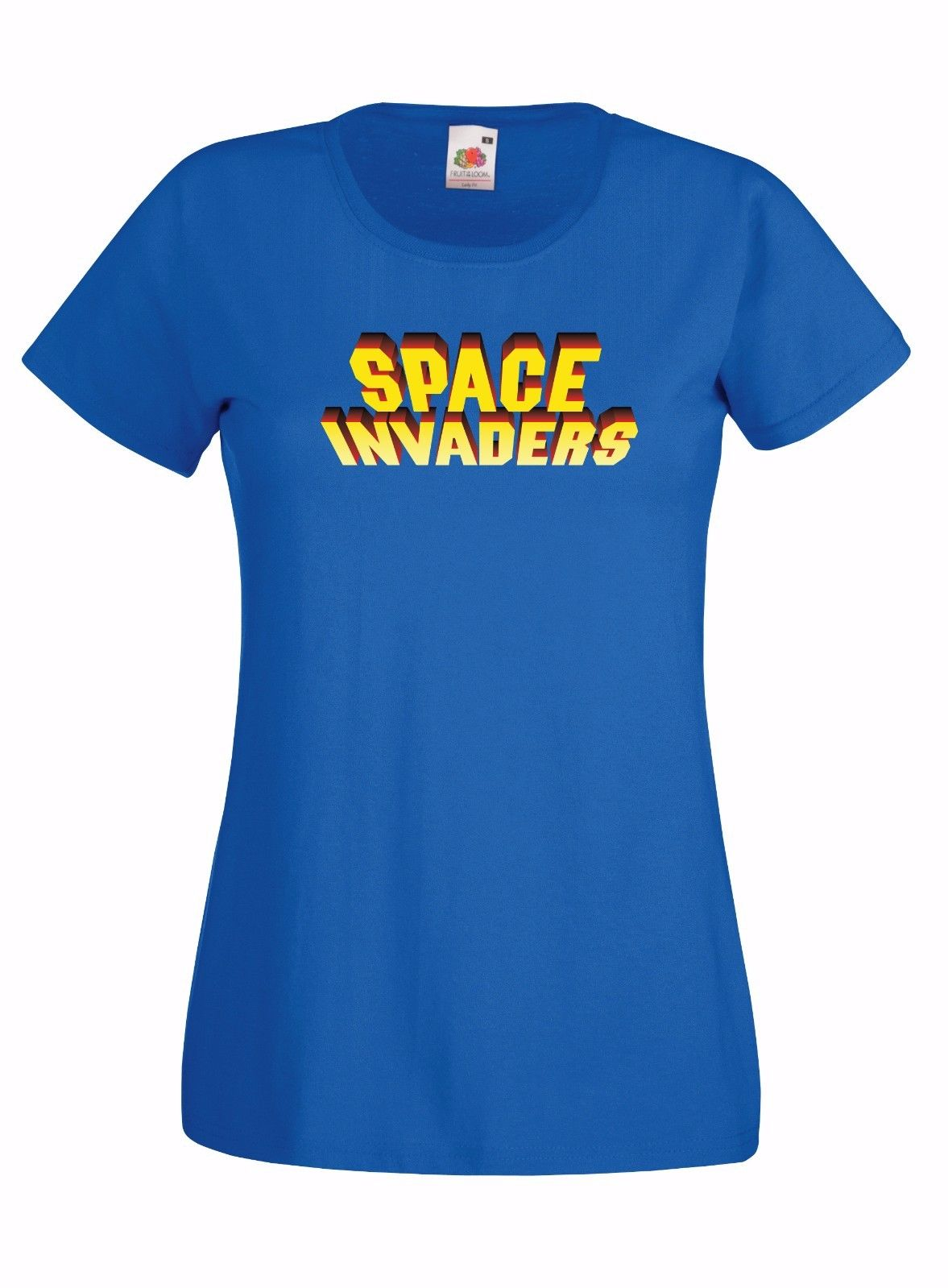 Space Invaders Inspired Logo Graphic Skinny High Quality 100 Cotton