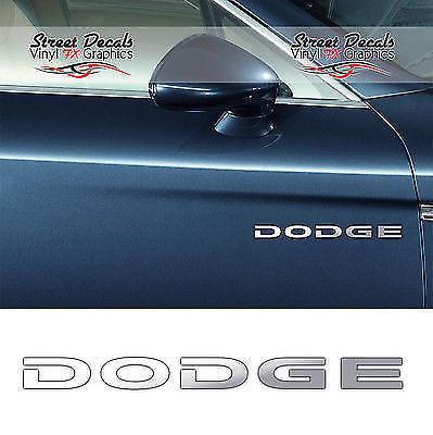 Dodge chrome vinyl car door side decals stickers graphics x2 7 yr vinyl