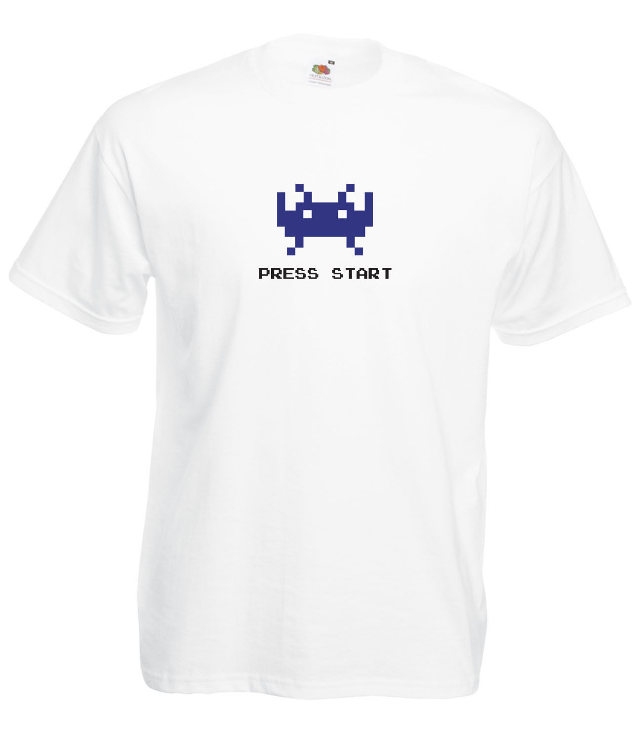 RETRO-SPACE-INVADERS-INSPIRED-GRAPHIC-HIGH-QUALITY-FLOCK-FULL-COLOUR-T-SHIRT