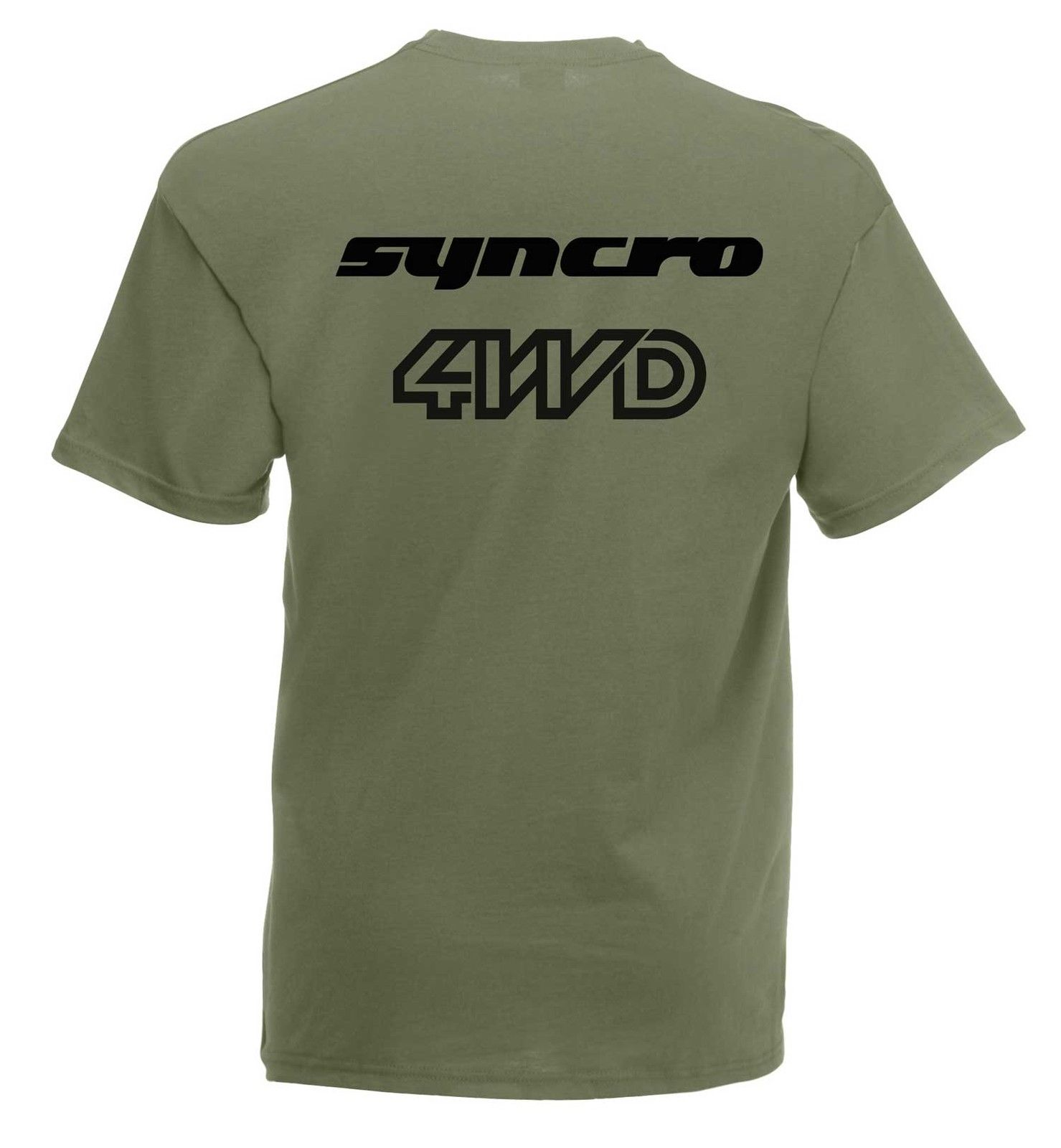 Vw camper syncro 4wd graphic high quality 100 cotton t for Good quality cotton t shirts