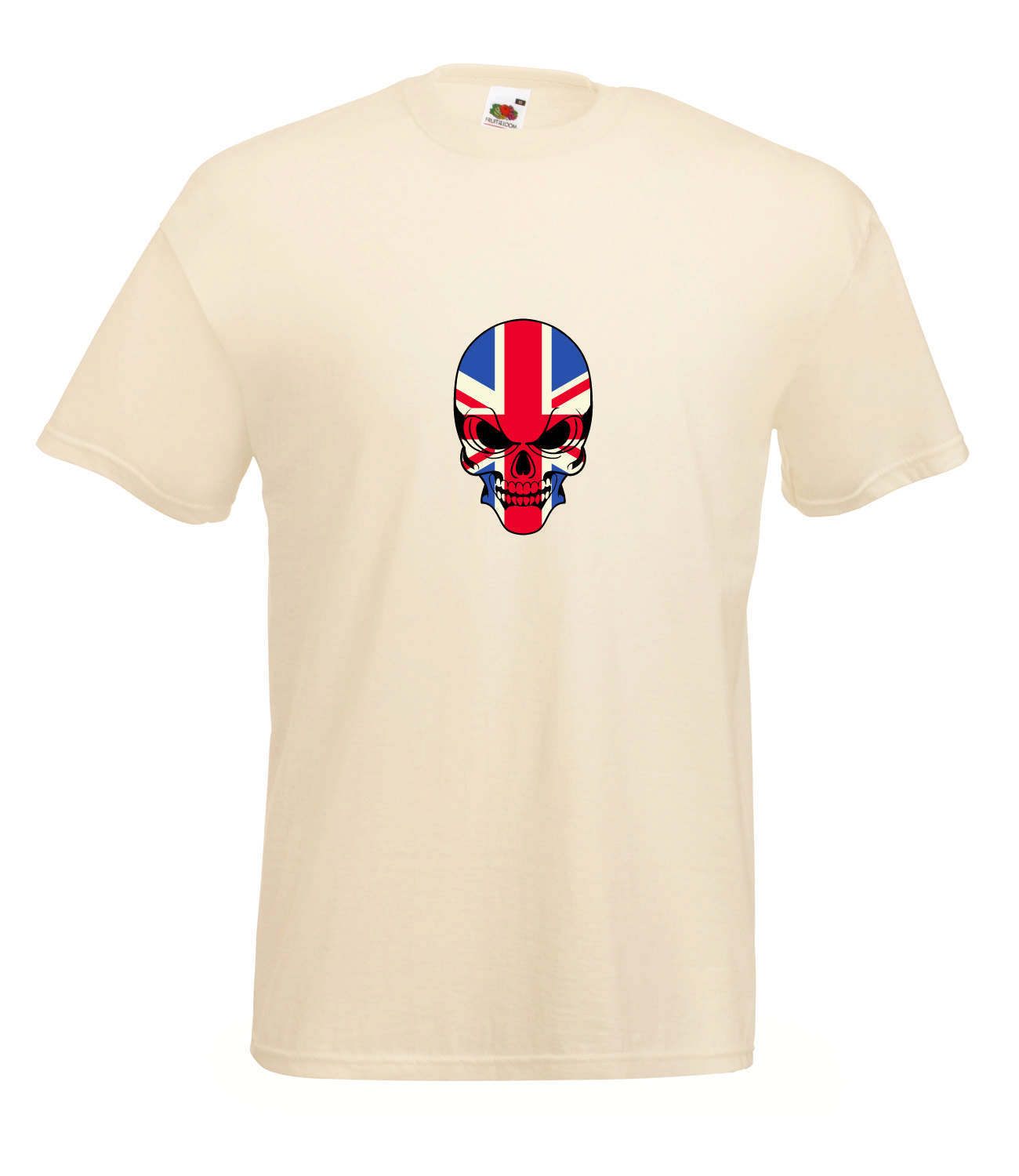 Union jack skull design graphic high quality colour t for Graphic design t shirts uk