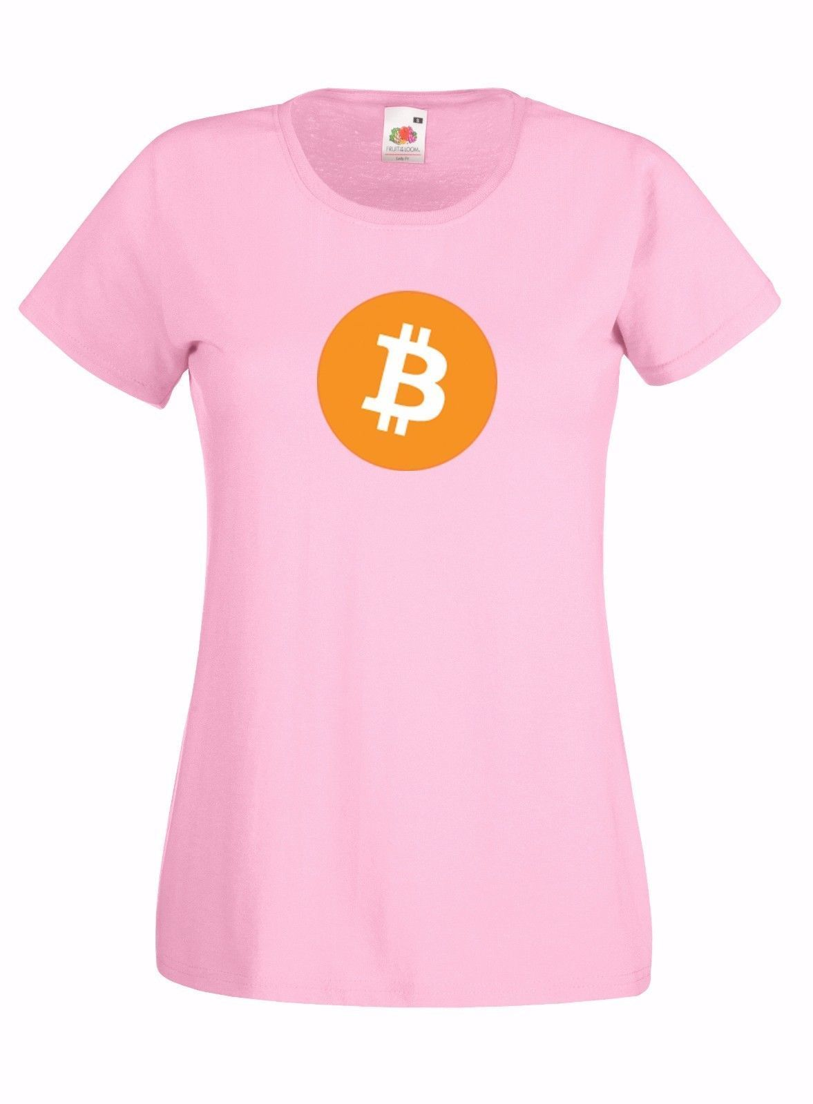 BITCOIN INSPIRED GRAPHIC LADIES SKINNY HIGH QUALITY 100% COTTON T-SHIRT 00b265460