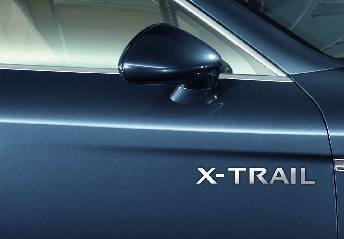 Nissan x trail chrome vinyl door side stickers graphics car