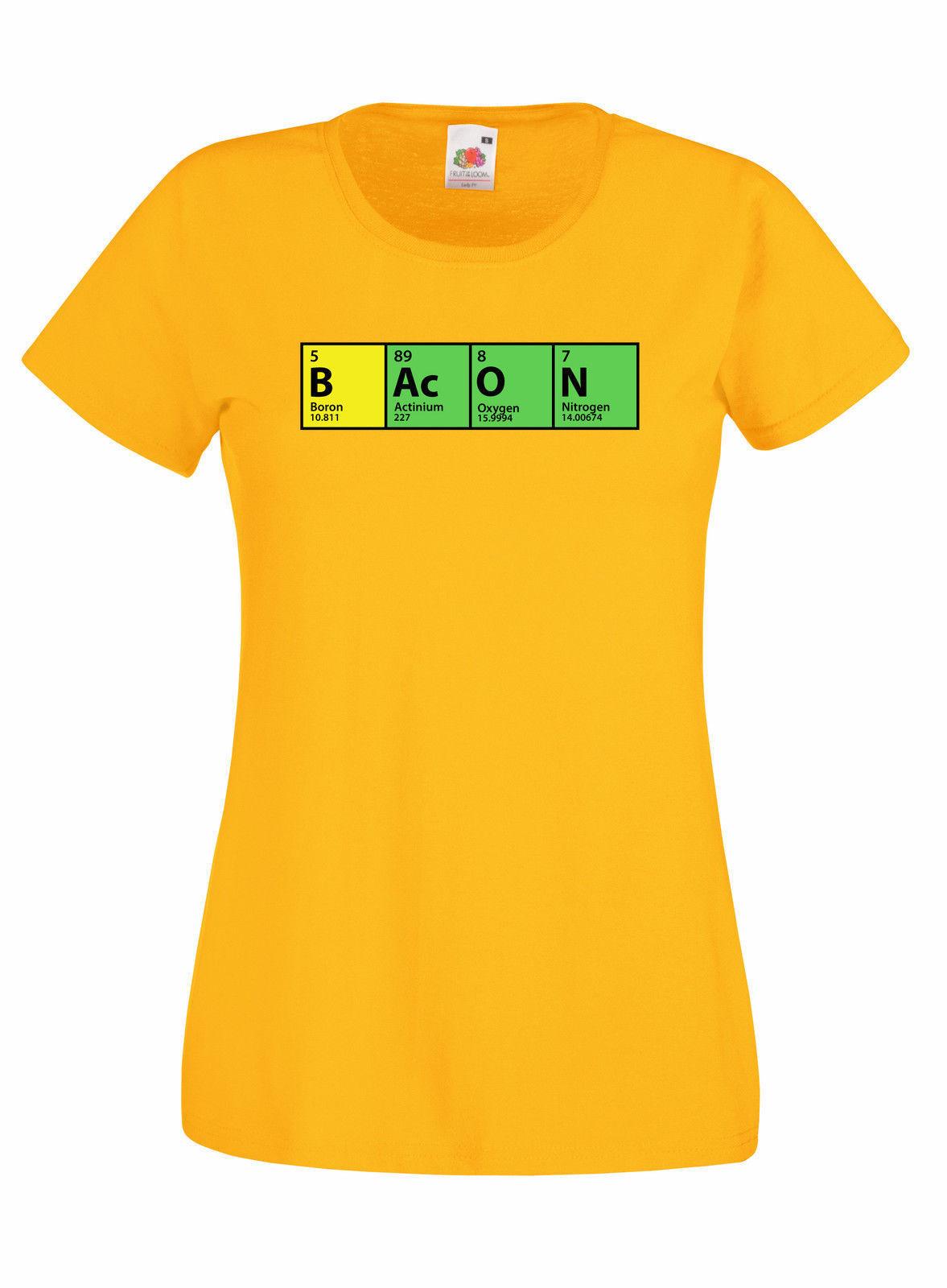 The Big Bang Theory Bacon Periodic Table Graphic Skinny