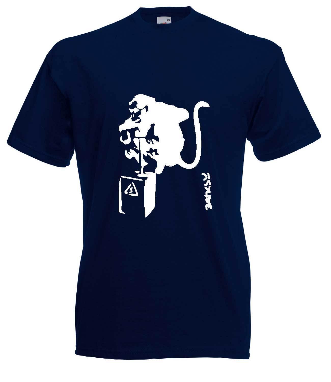 Banksy Monkey Detonator Graphic High Quality Cotton Short